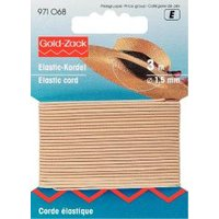 Elastiksnor 1,5 mm lys beige 3 m